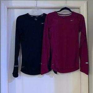 Nike long sleeve dry fit running shirt bundle